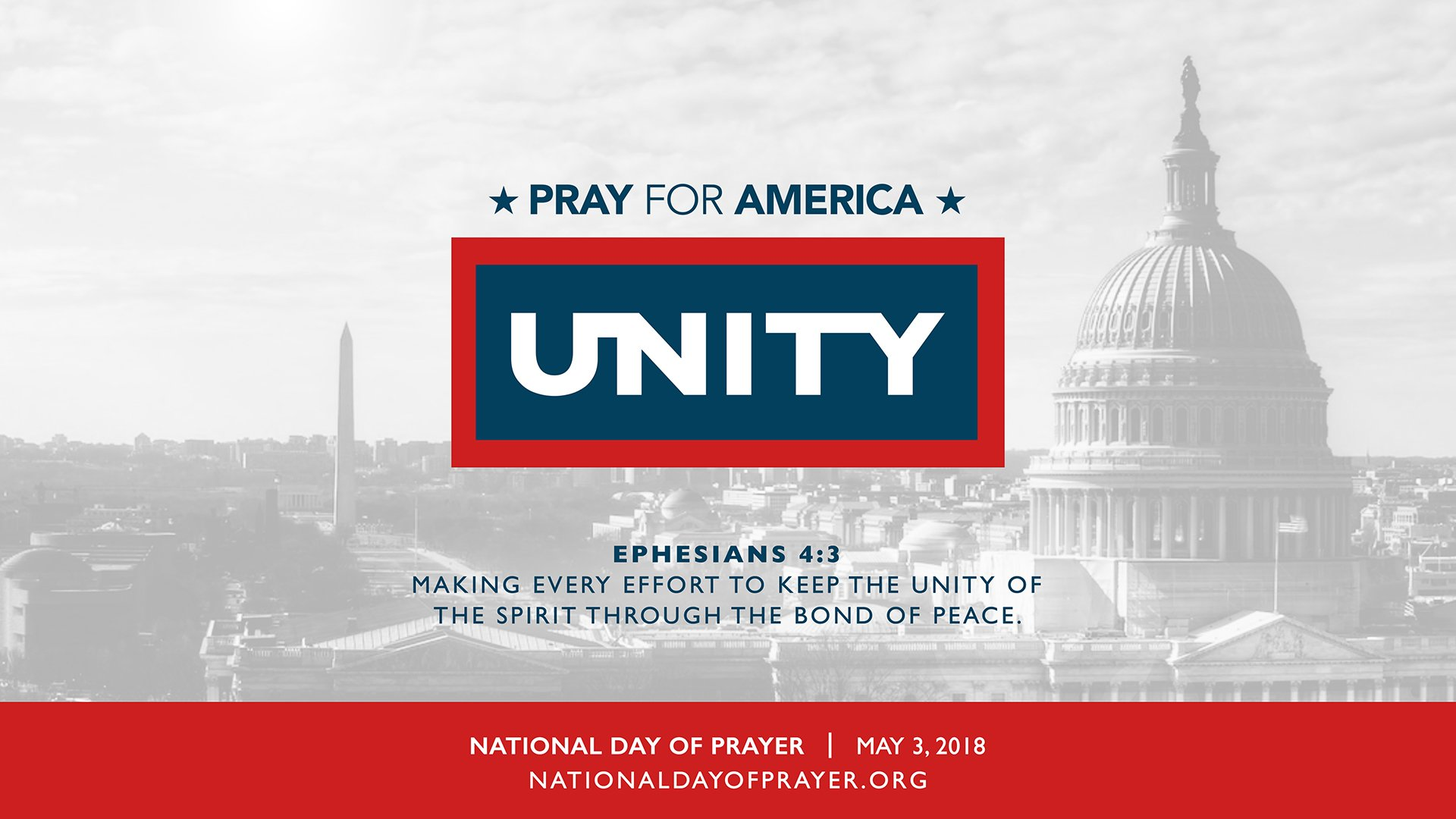 Graphic for the 2018 National Day of Prayer